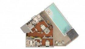 Two bedroom Northolme pool villa