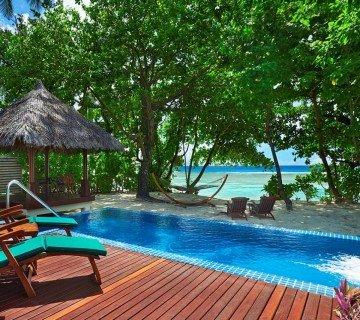 Třílůžková Deluxe Beachfront Pool Villa